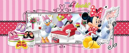 Panoramic wallpaper mural Minnie Mouse 541VEP